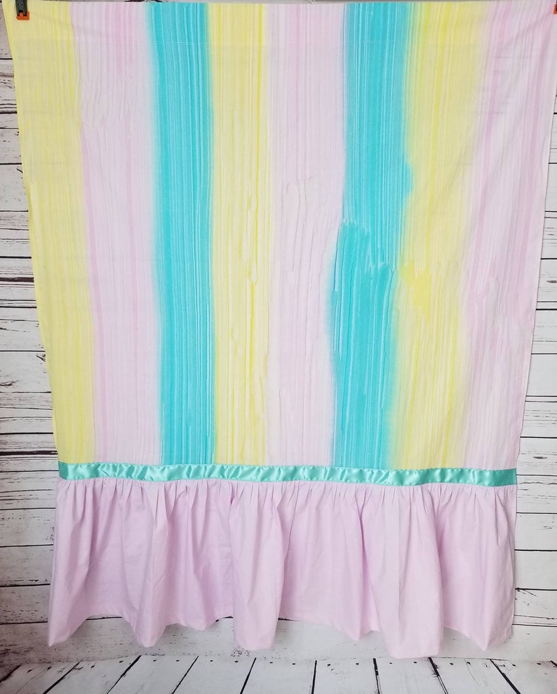 Pastel Rainbow Duffel Changing/ Privacy Curtain   Your image 0