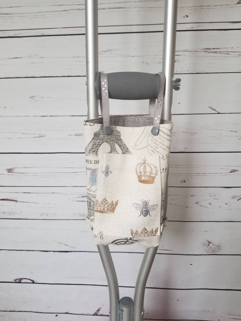 Crutch Bag   Ivory Paris Postcard with Queen Bee Pocket  image 0