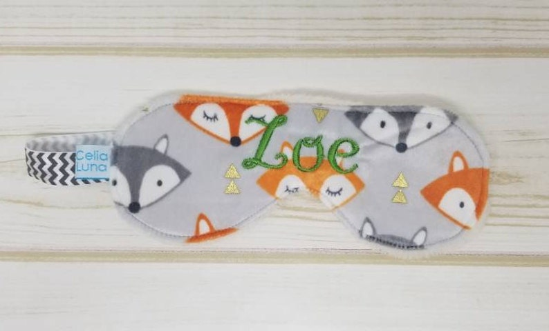 Fox Personalized Child's Sleeping Mask image 0