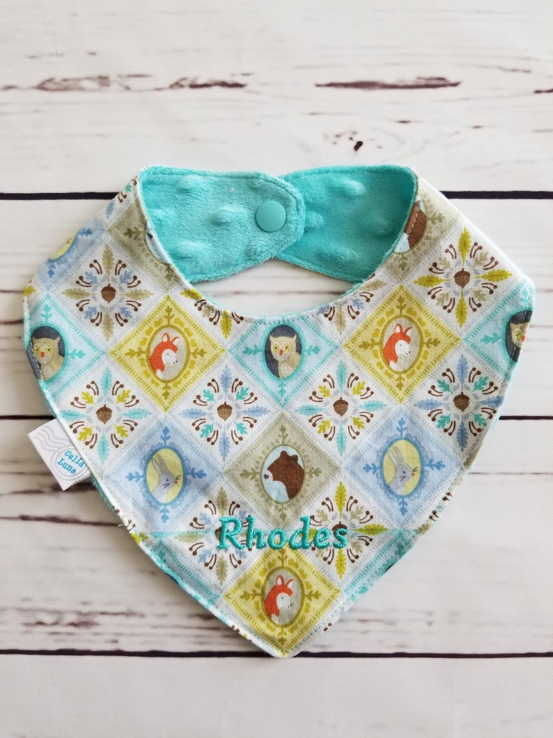 Woodland Friends Portrait Newborn Bandana Bib  Can be image 0