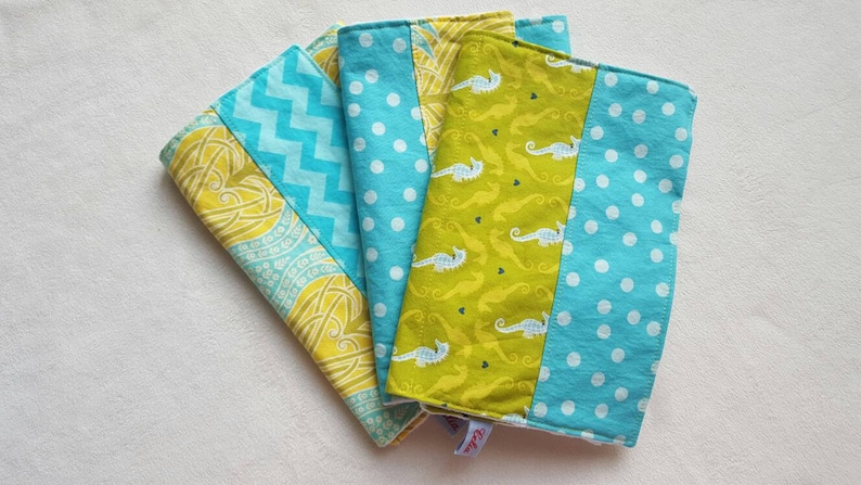 Seahorse Minky Burp Cloths  can be monogrammed  Set of Three image 0