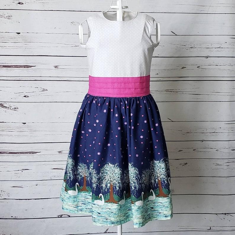 Swan Lake Elegant Girls Party Dress  Size 7 image 0