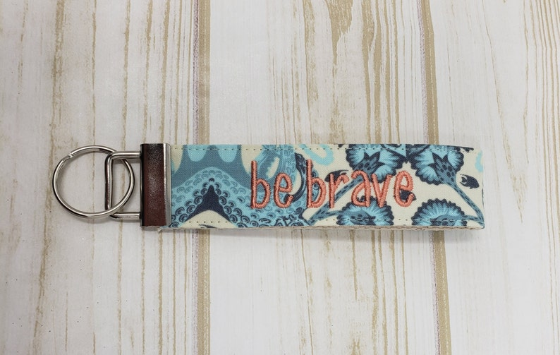 Blue Octopus Personalized / Monogrammed Wristlet Key Chain / image 0