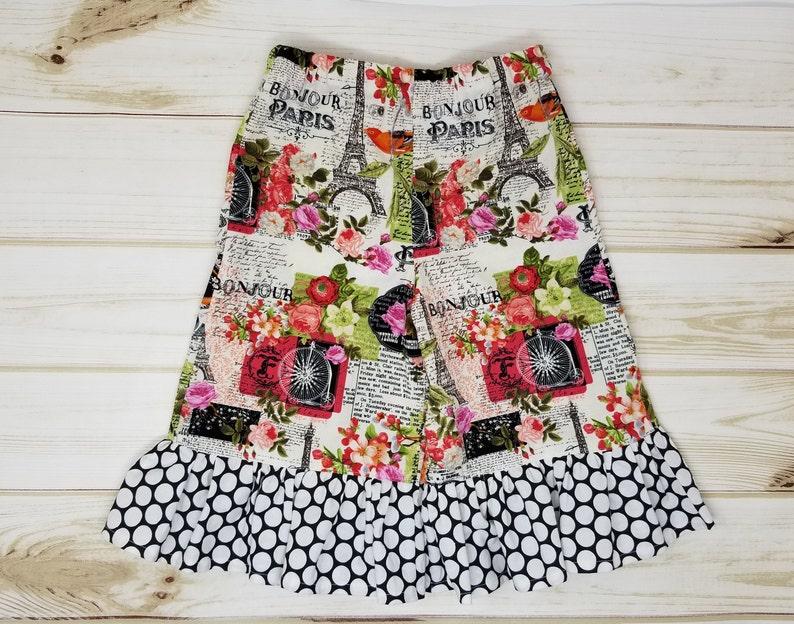Girls 3T Ruffle Pants / Capris  Paris Print image 0