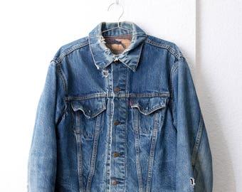 """1960s Levis Big """"E"""" Type III Blanket Lined Denim Jacket - S / M"""