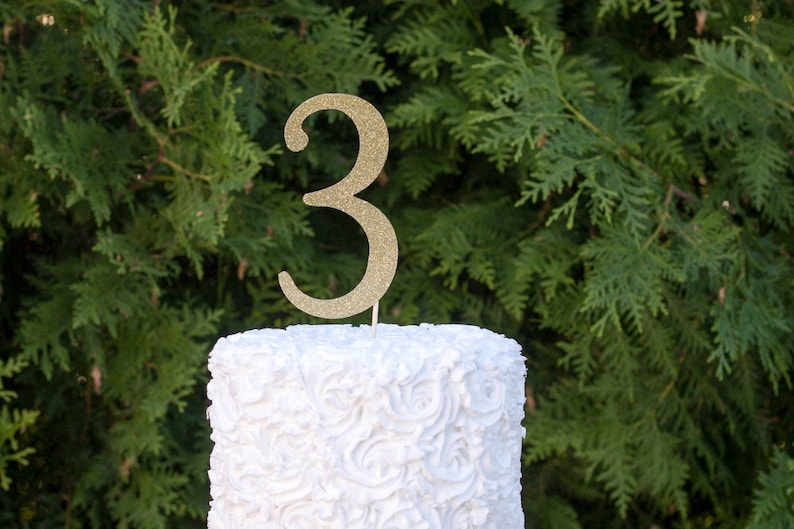 3 Cake Topper Three Years Old Birthday 3rd Party