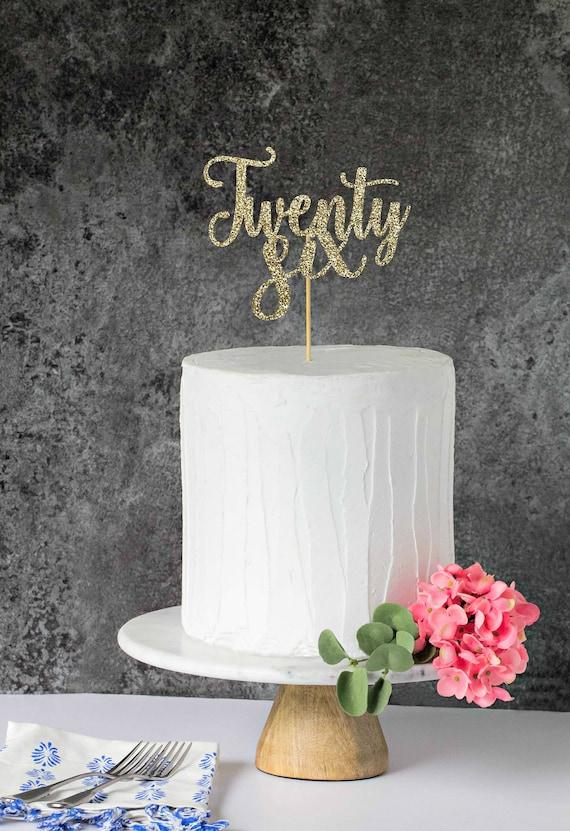 Super Twenty Six Cake Topper 26 Cake Topper Happy 26Th Birthday Etsy Funny Birthday Cards Online Necthendildamsfinfo