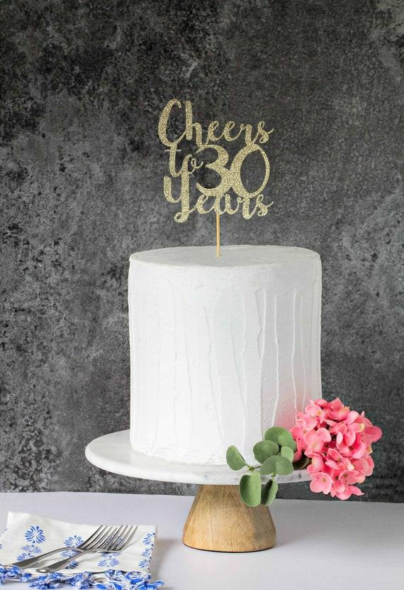 Cheers A 30 Anni 30 Torte Di Compleanno Sporco 30 Torta Topper Topper Del 30 Anniversario Trenta Per Torte 30 Per Torte