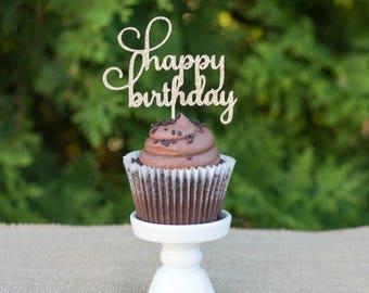 happy birthday cupcake topper,birthday decorations, party decorations, birthday party, birthday decoration, birthday party decor,