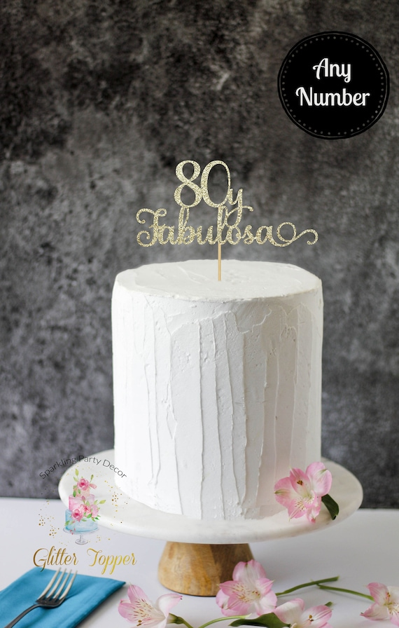 Fine 80 Y Fabulous Cake Topper 80Th Birthday Cake Topper 80 Etsy Funny Birthday Cards Online Alyptdamsfinfo