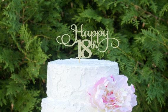Eighteen Cake Topper 18 Birthday Decorations Girl