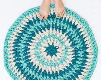 Quick & Easy Crochet Rug Pattern, Jumbo Yarn, Bath Mat, DIY Rug, Beginner friendly, tutorial