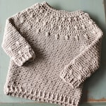 Dahlia BABY Sweater Crochet Pattern, Long and Short Sleeve, Sizes 0-6 Months, 6-12 Months, 12-24 Months, 2T