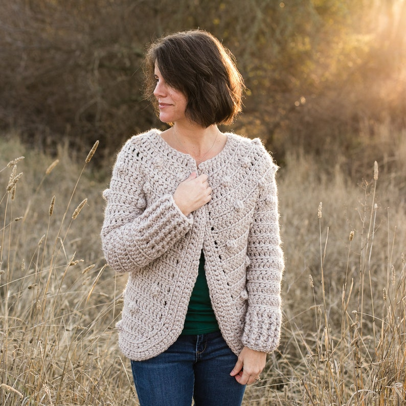Women's Crochet Sweater Pattern Super Bulky Yarn The image 0