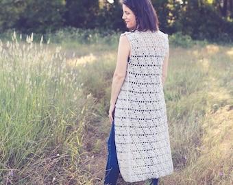 Summer Pop Vest Crochet Pattern, 3 Women's Sizes: XS/S (M/L, 1X/2X).