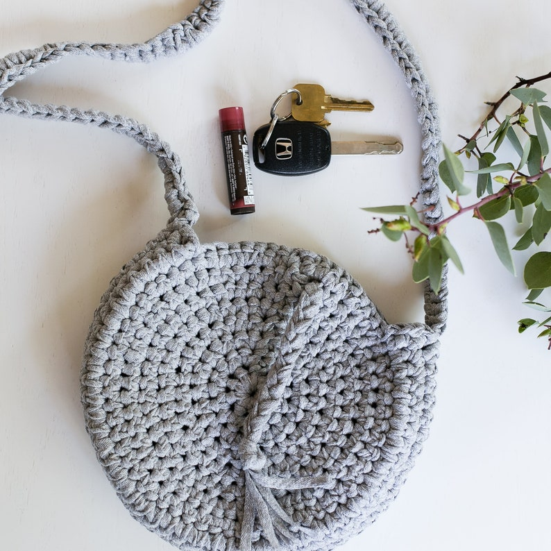 Celestial Crossbody Bag Crochet Pattern Fabric T-shirt image 0