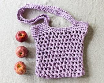 Medina Market Tote Easy Beginner Crochet Pattern, Fabric, T-shirt, Yarn, Crochet Gift Idea, teen, adult gift idea, purse, market bag