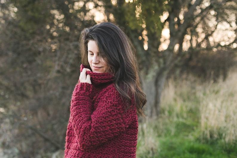 Snuggle Up Sweater Crochet Pattern Sizes Child 4 6 8 10 image 0
