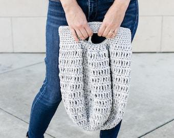 Marley Tote Bag, Crochet Pattern, Two Handle Options, Easy Beginner, Gift Idea, purse, market bag