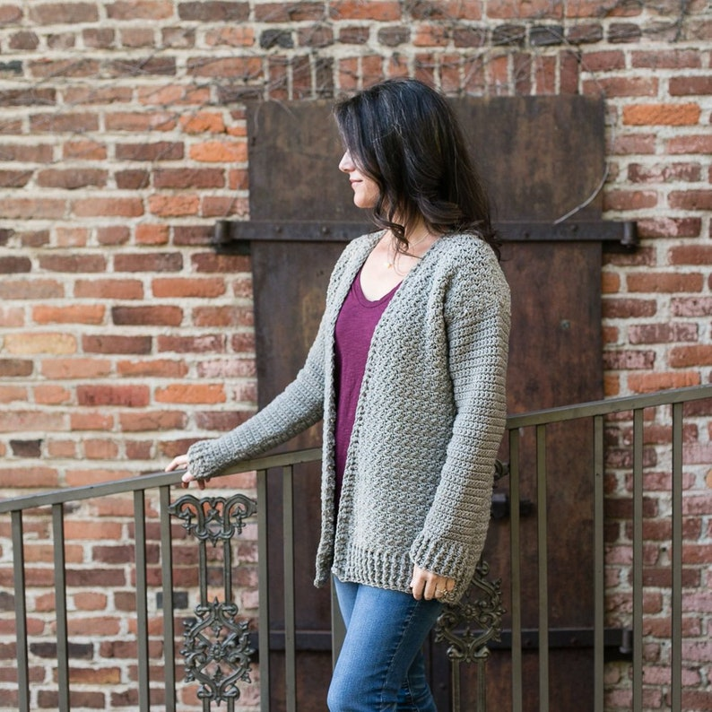 Beginner Crochet Cardigan Sweater Pattern Bulky Yarn Maylee image 0