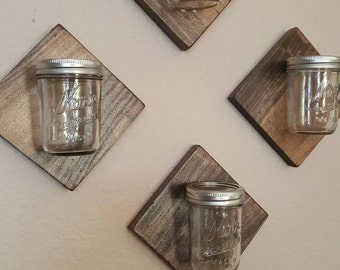 Decorative mason jar wall plaques
