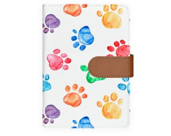 b9448c58dd9ad personalized notebook A6 leather organizer organiser refillable planner  notebook agenda cover personalized diary dog footprint