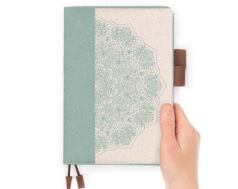 travelers notebook personalised refillable diary journal A5 leather cover