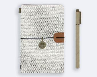 personalized leather journal refillable notebook diary genuine leather cover