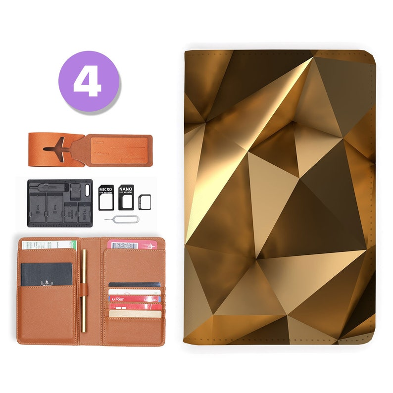 passport cover personalized passport cover RFID blocking classic leather travel wallet luxury