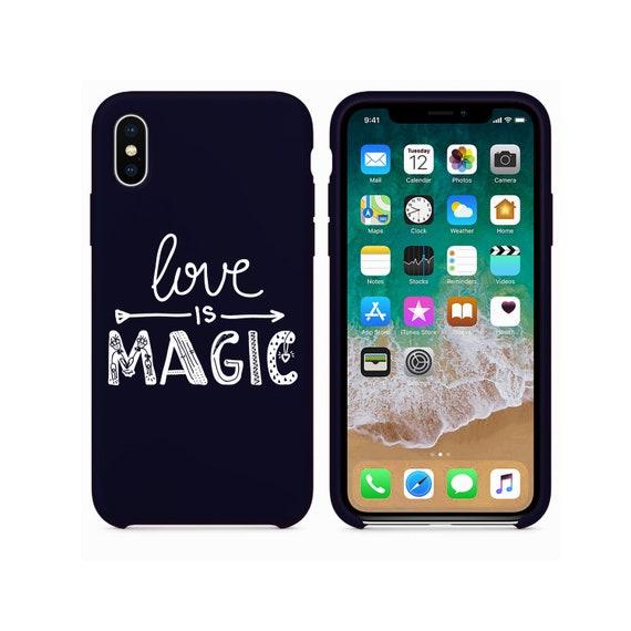 iPhone Etui cuir housse coque iphone 6 iphone cas 7 cas iphone 8 x étui amour est magique