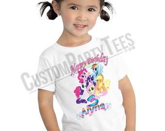 Little Ponny T-shirt Birthday PERSONALIZE ADD Name /& Age