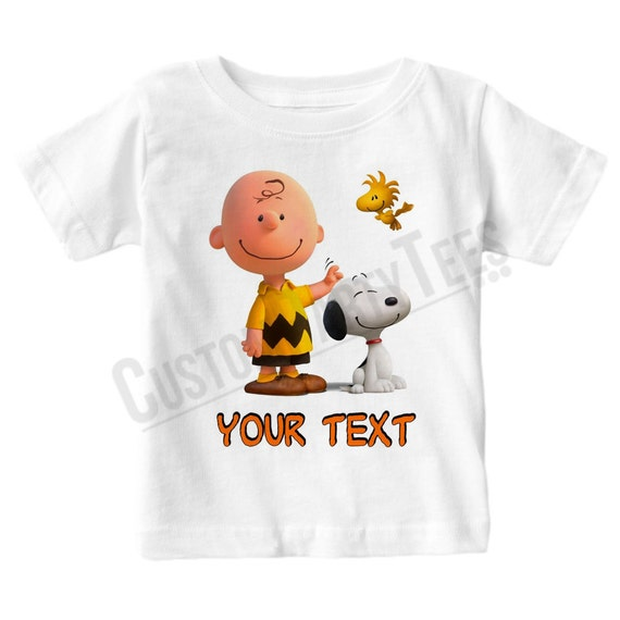 Personalised Charlie Brown and Snoopy T-shirt, adult or youth