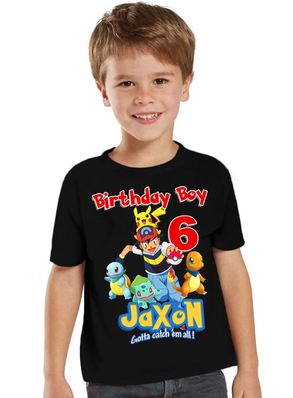 Pokemon Birthday Shirt Customized Party Gift