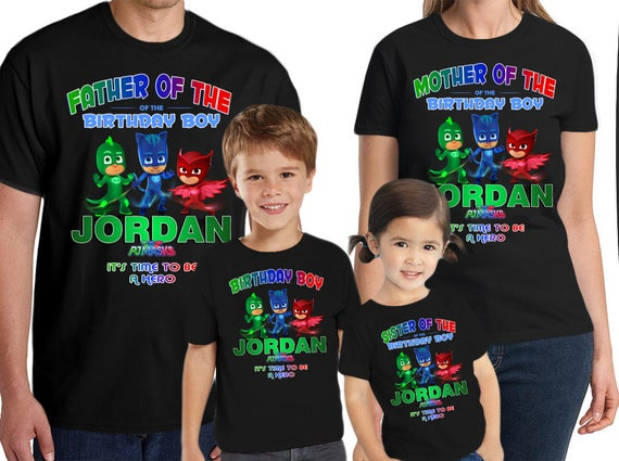 Personalized PJ Masks Shirt Add Name AGE Gift Favors