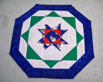 Handmade Quilted Christmas Table Topper or Wall Quilt