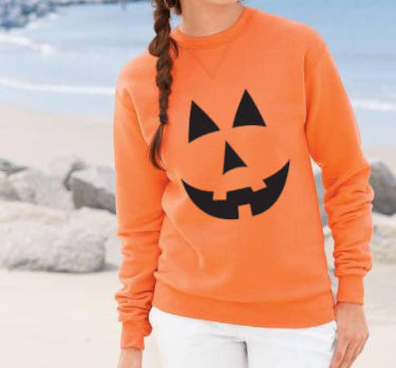 Jack O Lantern Sweater . Halloween Sweater . Pumpkin Face image 0