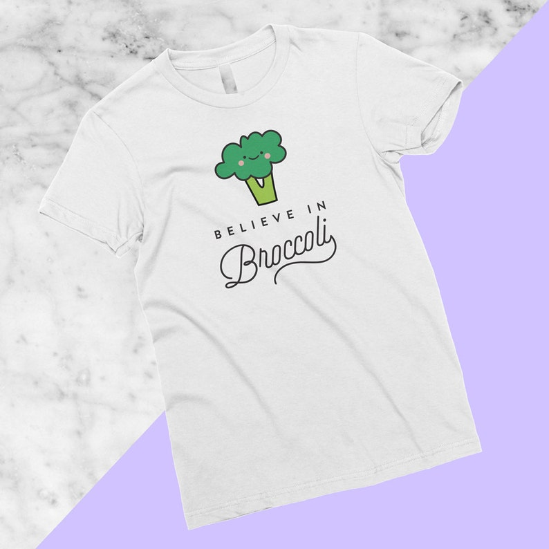 c93f5de2 Believe in Broccoli T-Shirt Vegan Vegetarian Shirt | Etsy