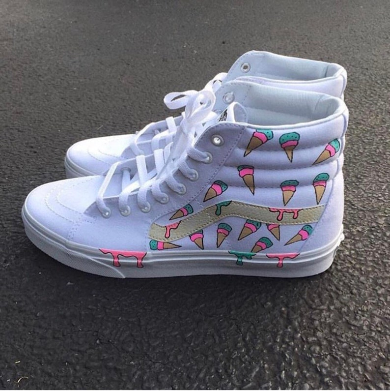 a69b99dd4b6b88 Custom Shoes Vans Sk8 Hi    Adidas Nike Air Force 1 One Old
