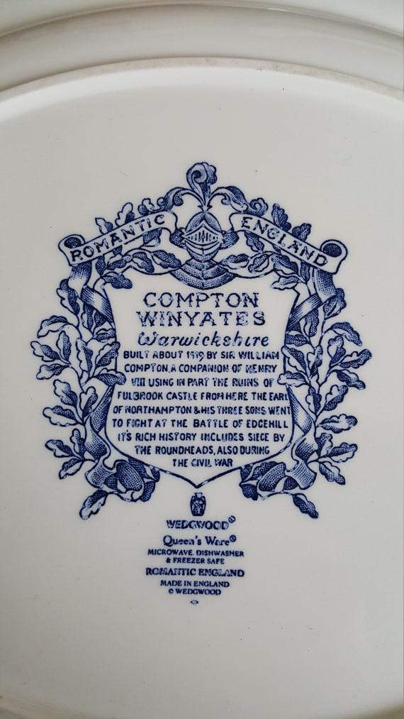 plateau 16 Willow Wedgwood Queens Chine Fine bleu Angleterre Winyates luxe ovale vaisselle mariage ensemble pouces bleu romantique Compton porcelaine Y29WIEDH