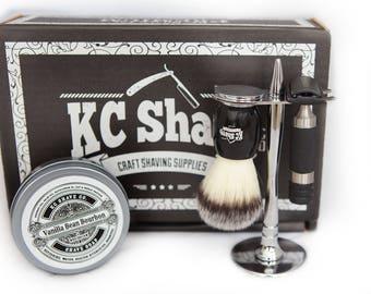 The Jacob Personalized Men's Gift. The best Valentine's gift for him. Men's Grooming Kit. Shaving Kit. Boyfriend. Husband. Shaving Set.