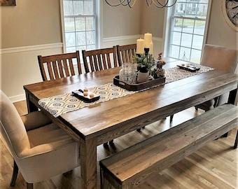 Farmhouse Dining Table Set Etsy