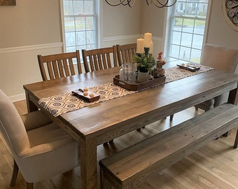 Peachy Rustic Dining Table Etsy Home Remodeling Inspirations Cosmcuboardxyz