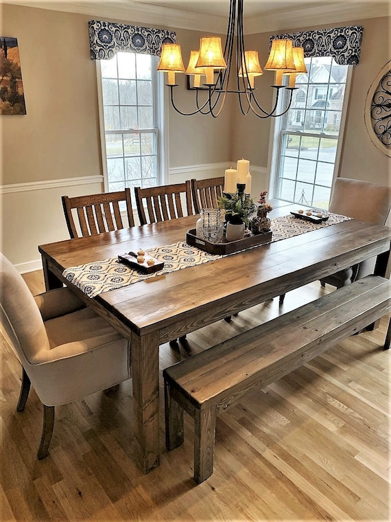 Rustic Farmhouse Dining Table Etsy