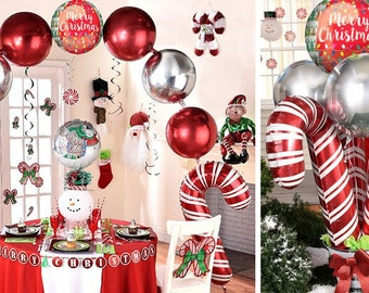 38 jumbo candy cane balloon christmas party decoration christmas balloon huge balloon photoshoot holiday party holiday decoration