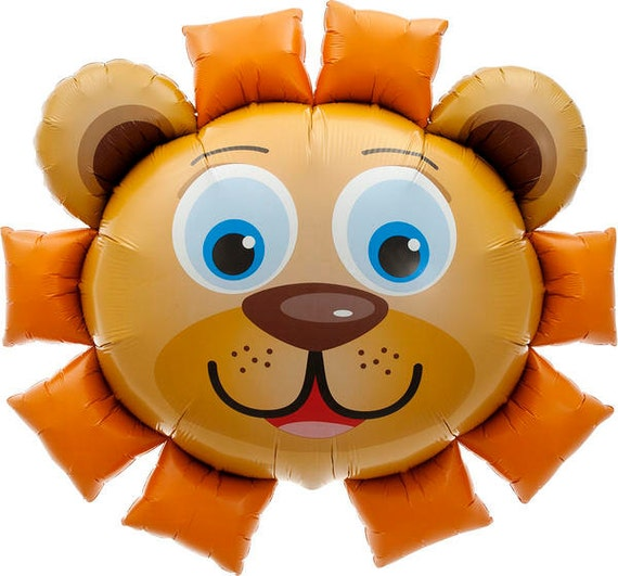 Lion Balloon 35 Birthday Decoration Photo Prop First Animal Jungle Party Lover