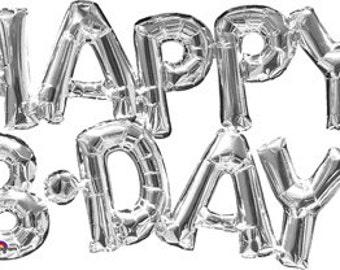 Happy birthday phrase balloon, party balloon decoration, birthday balloon decoration