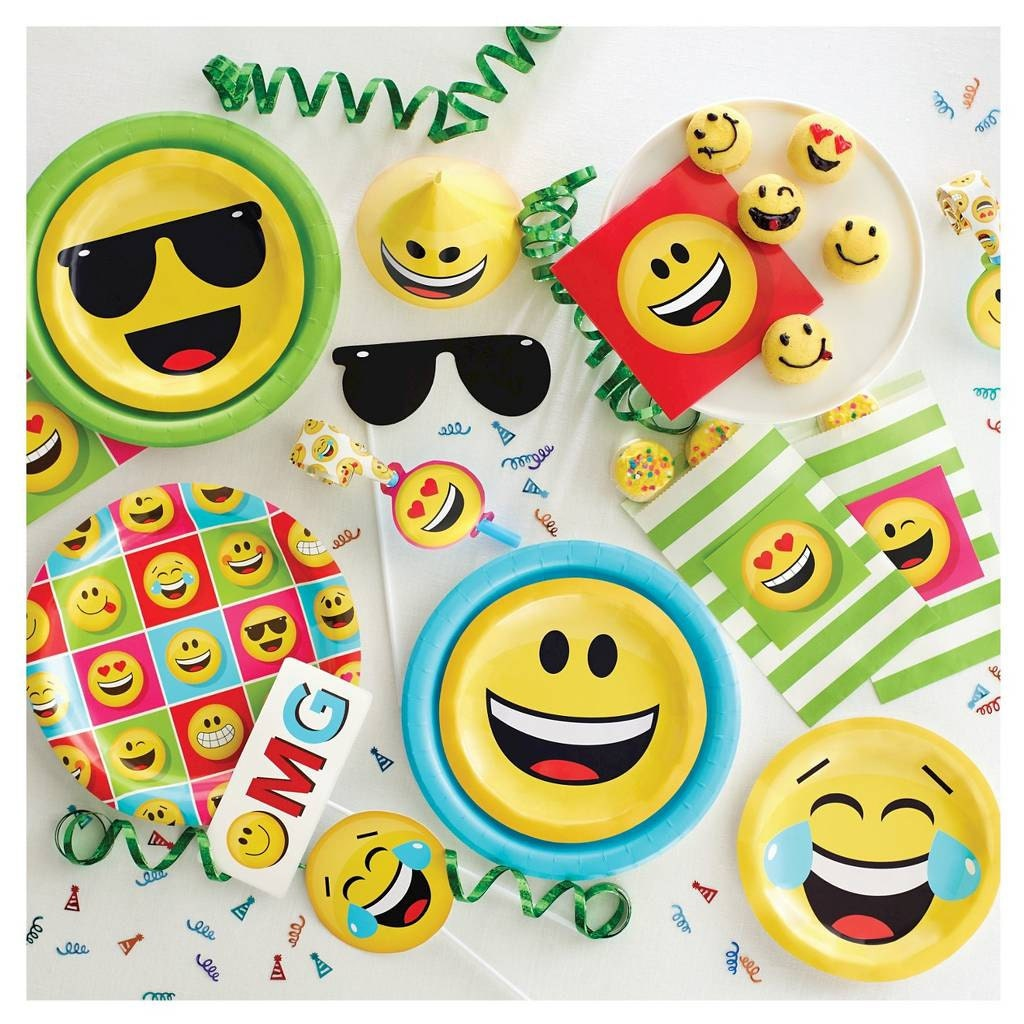 Show Your Emotions Invitations Pk Of 8 Emoji Birthday