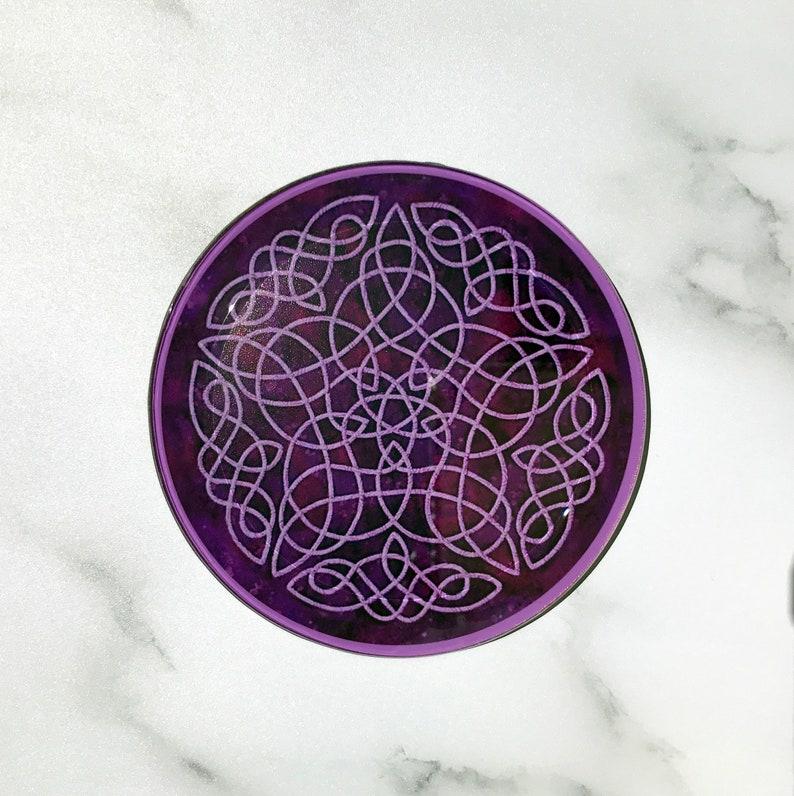 Purple Celtic Coaster Set