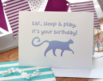 Cat Birthday Card 5 Pack Handmade Card Happy Birthday Cat Card Cat Lover Gift