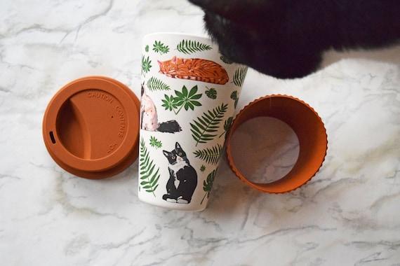 coffee mug Travel Mug Cat Lover Gift ECO friendly
